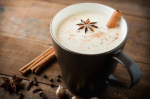 Chai Tea with cinnamon garnish