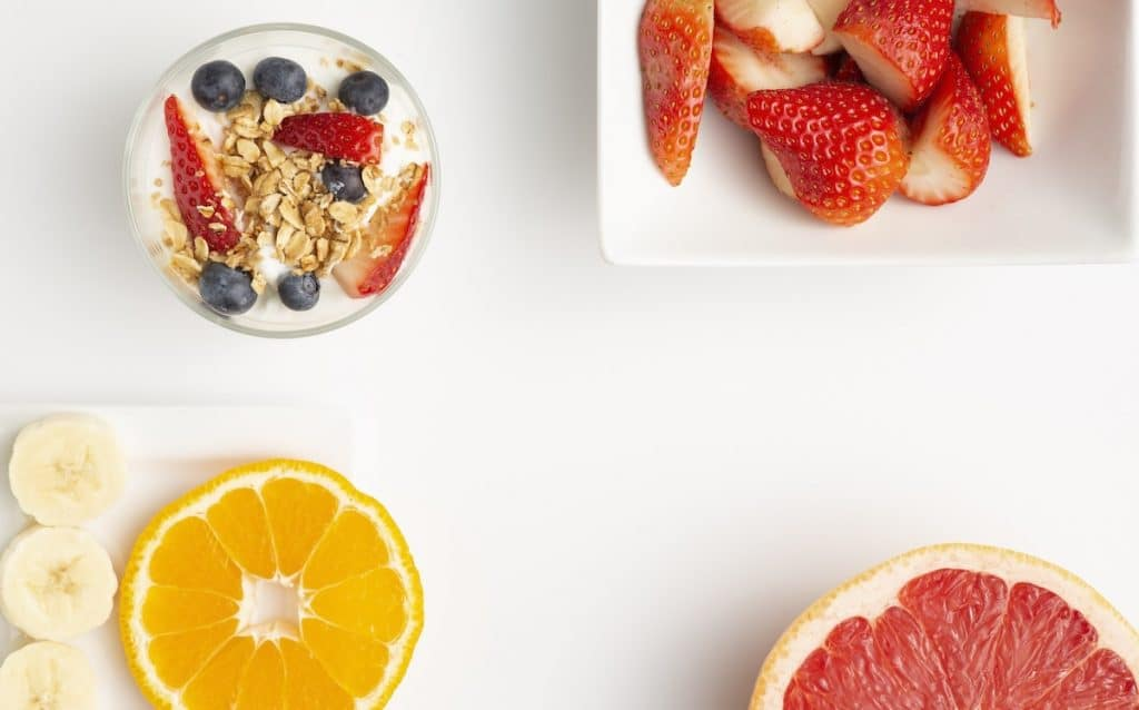 Sample breakfast meals - fruits, oats, berries