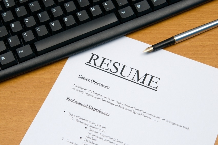 image of resume example
