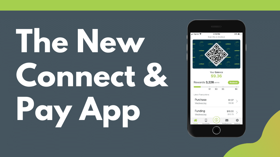 title image for the new connect and pay app